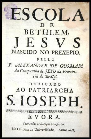 Folha de rostoEscola de Belém, Alexandre de Gusmão, Évora, 1678