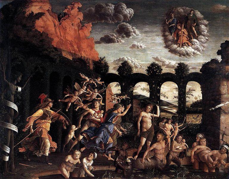 Triunfo das Virtudes (1502, Louvre). Andrea Mantegna (1431-1506)
