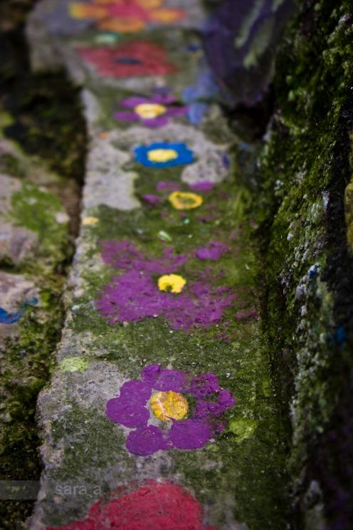 E havia passeios de flores.