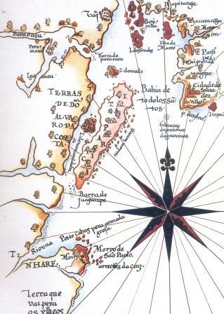 Mapa da Bahia de Todos os Santos, século XVI
